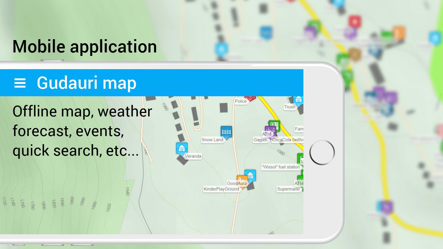Map Of Georgia Hotels.Gudauri Ski Resort Georgia Hotels Appartments Weather Webcam