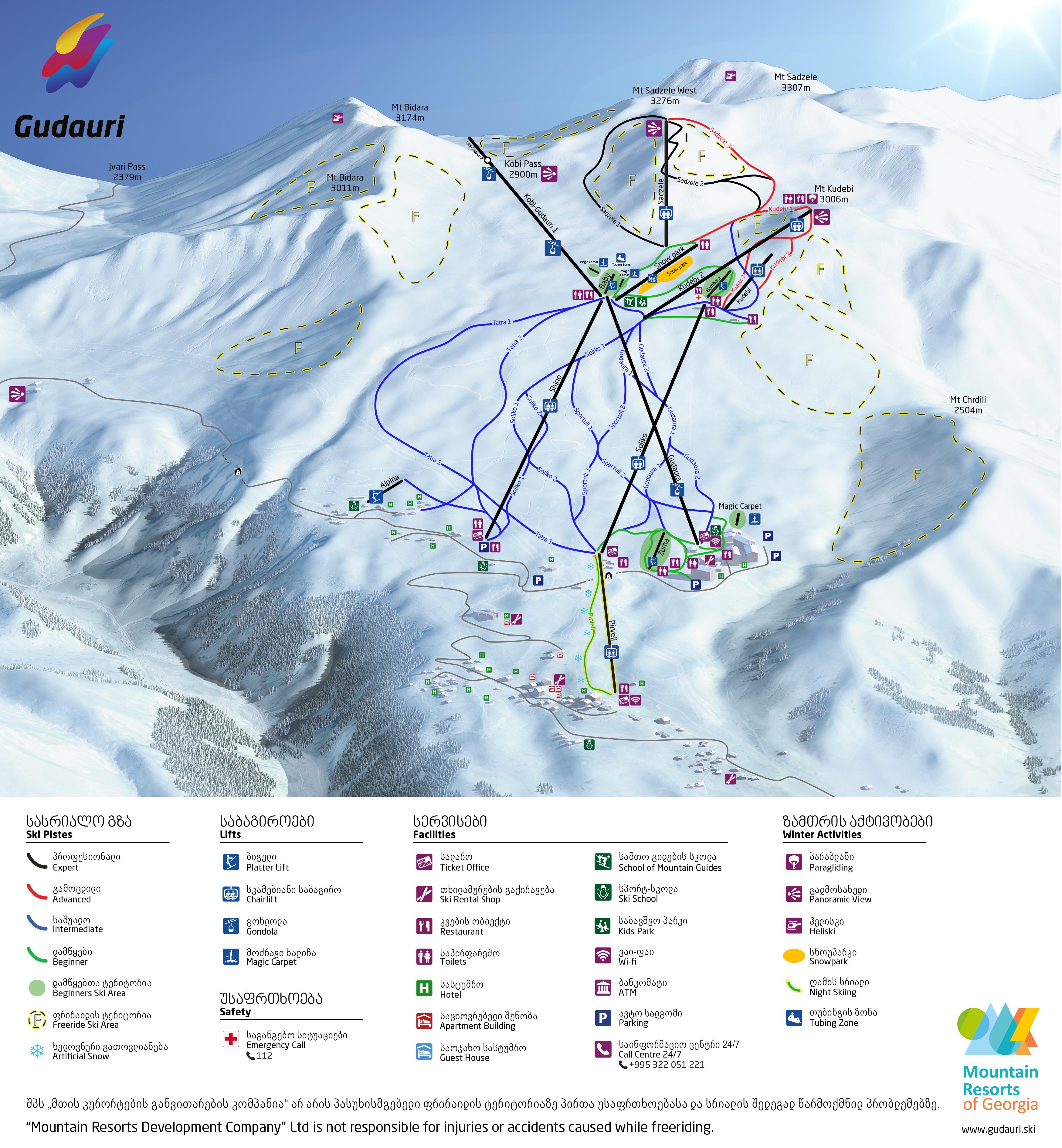 Gudauri / Gudauri winter sports resort
